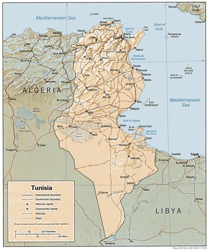 Mapas de Túnez