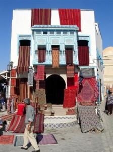 Mercado de alfombras en Túnez  (Foto Flickr de Stephen Reed)