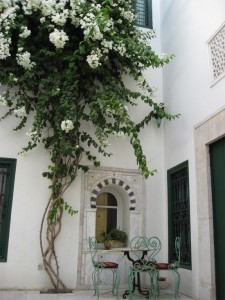 Patio del Hotel Dar el-Medina (Foto Flickr de Victoria Carpenter)