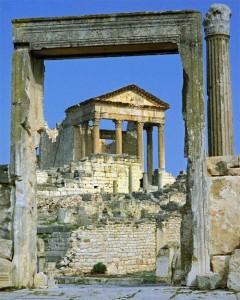 Templo Romano en Dougga, Túnez (Foto Flickr de nigelfj)