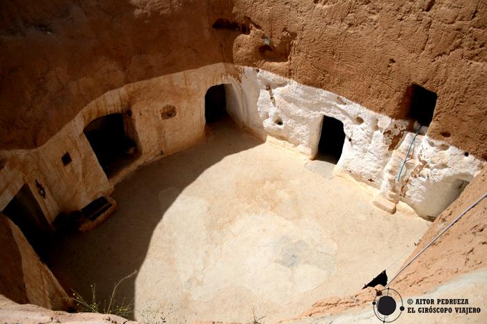 Casas trogloditas de Matmata. Túnez