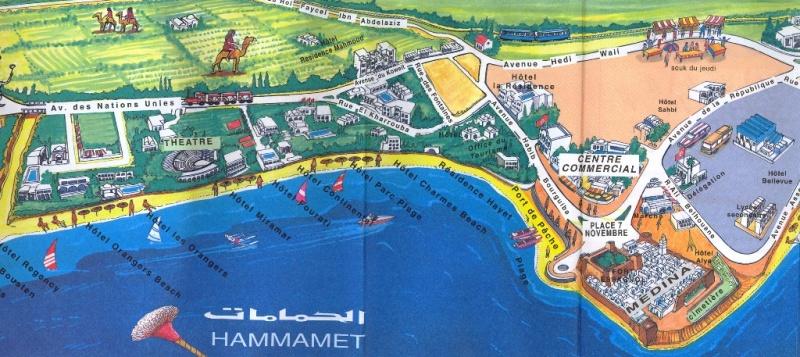 Plano turístico de Hammamet